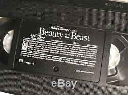 Disney Black Diamond Collection Beauty & The Beast VHS Rare Print Cover