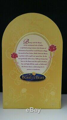 Disney Deluxe Beauty And The Beast Belle Doll Limited Edition red dress RARE