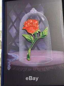 Disney Disney Beauty And The Beast Anniversary Jumbo Enchanted Rose Pin Le 150