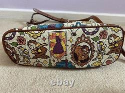 Disney Dooney And Bourke Beauty And The Beast Letter Carrier Crossbody Purse Bag