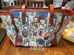 Disney Dooney And Bourke Beauty And The Beast Tote Handbag Large