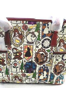 Disney Dooney & Bourke Beauty & Beast Large Tote NWT Htf