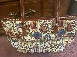 Disney Dooney & Bourke Beauty and the Beast LRG shopper tote bag GREAT CONDITIO