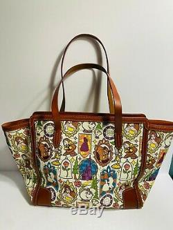 Disney Dooney & Bourke Beauty and the Beast Large Shopper Tote Bag