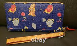 Disney Dooney & Bourke Beauty and the Beast Wallet Belle Mrs. Potts NWT