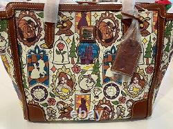 Disney Dooney & Bourke Beauty and the Beast large Shopper Tote purse