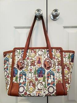 Disney Dooney & Bourke Beauty and the Beast large shopper tote bag purse NICE