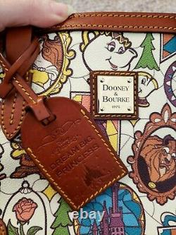 Disney Dooney & Bourke Beauty and the Beast small tote bag purse Belle Princess