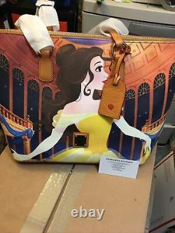 Disney Dooney & Bourke Belle Tote Beauty & The Beast Dream Big Princess Bag