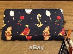 Disney Dooney & and Bourke Beauty the Beast Wristlet Wallet Lumiere Cogsworth