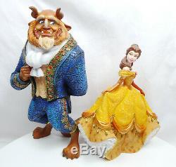 Disney Enesco Showcase 4060071 4058292 Beauty and the Beast Set of 2