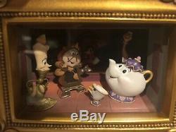 Disney Gallery of Light Olszewski Beauty and the Beast Fireside Romance NEW