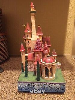 Disney Jim Shore BELLE BEAUTY and the BEAST Enchanted Kingdom Music Box Castle