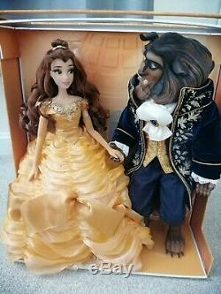 Disney Limited Edition Beauty And The Beast dolls platinum set LE 500 DEBOXED