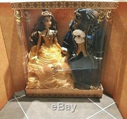 Disney Limited Edition Beauty And The Beast platinum Doll Set Deboxed