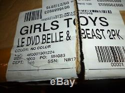 Disney Limited Edition Beauty & The Beast Platinum Set NIB