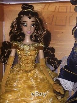 Disney Limited Edition Doll Beauty And The Beast Platinum Set Rare