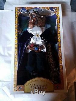 Disney Limited Edition Doll Beauty & The Beast 17 Set NIB Belle, Beast & Gaston