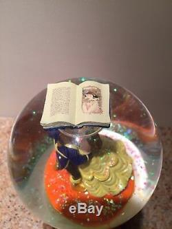 Disney Musical Snow globe Beauty and the Beast Rare Collectible. Lights Up