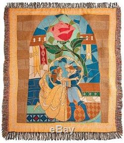 Disney Parks Beauty And The Beast Throw Blanket/bedding/decoration/princess Rose