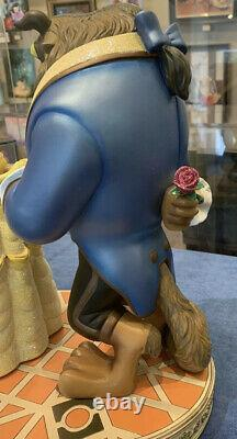 Disney Parks Beauty and the Beast Big Figurine Statue Belle & Beast New