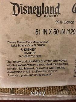 Disney Parks Beauty and the Beast Stained Glass Tapestry Woven Throw Blanket NEW
