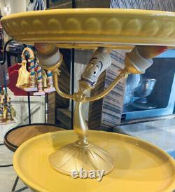 Disney Parks Lumiere Cake Stand Plate Beauty And The Beast New