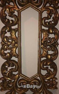 Disney Parks Prop Vintage Mirror Frame Display Beauty & The Beast WDW Props