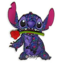 Disney Stitch Crashes Beauty and the Beast Plush and Pin Limited Edition