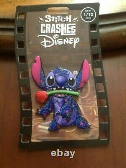 Disney Stitch Crashes Disney Pin Beauty and the Beast Limited Release