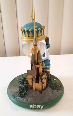 Disney Store Beauty & The Beast Belle Castle Ornament Hanging Snow Globe Rare 24