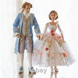 Disney Store Beauty and the Beast Belle Limited Edition LIVE Platinum Doll Set