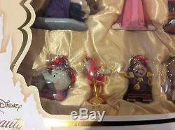 Disney Store Beauty & the Beast Deluxe Sketchbook Ornament Set Limited Edition