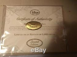 Disney Store Beauty & the Beast Mrs Potts 24K Gold Tea Set Limited Edition 1600