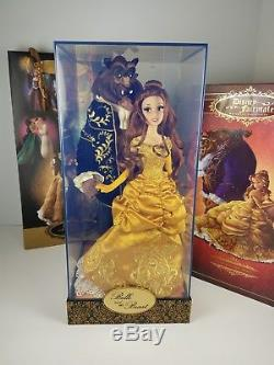 Disney Store Belle Beauty & the Beast Fairytale Designer Dolls with Gift Bag