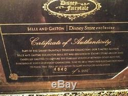 Disney Store Fairytale Designer Collection Belle and Gaston Beauty & the Beast