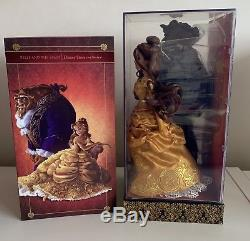 Disney Store Fairytale Designer Limited Edition Beauty &the Beast Belle Doll Set