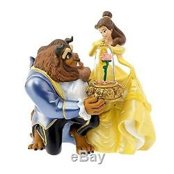 Disney Store Japan Beauty and the Beast Snow Globe Ornament Gift Music Box NEW