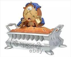 Disney Store Japan Cogsworth Pie Figure Accessory Case Beauty & The Beast 2021