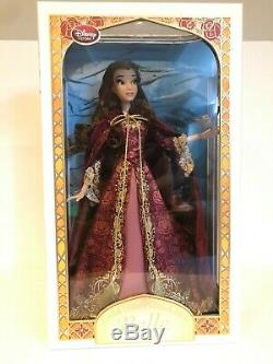 Disney Store Limited Edition Belle Doll Winter Dress Beauty and the Beast 17 LE