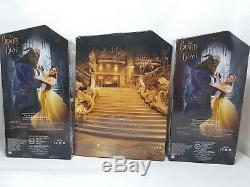 Disney Store Live Action Movie Beauty And The Beast, Belle and Gaston Dolls