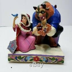 Disney Traditions by Jim Shore Beauty and the Beast Something There Winter Scene