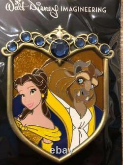 Disney WDI Princess & Prince Couples Crest Pin Beauty and the Beast LE250