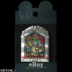 Disney Wdw Beauty & The Beast DVD Release Pin Moc Belle Stained Glass