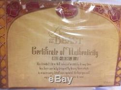 Disney Winter BELLE Limited Edition Doll BNIB Beauty & The Beast NEW