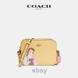 Disney X Coach Mini Camera Princess Belle Beauty And The Beast Bag Crossbody NWT