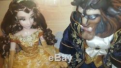 Disney limited edition dolls beauty and the beast platinum set