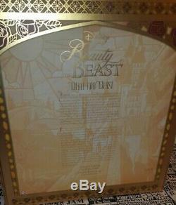 Disney limited edition dolls beauty and the beast platinum set beast