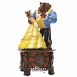 Disney parks beauty the beast spinning dancing music box be our guest new box