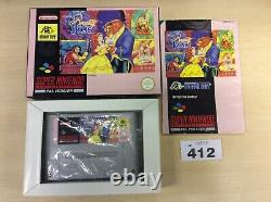 Disneys Beauty And The Beast SNES Super Nintendo Boxed/complete PAL